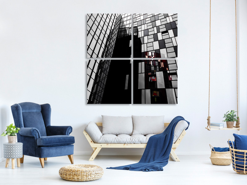 4 Piece Canvas Print The Mondriaan Touch