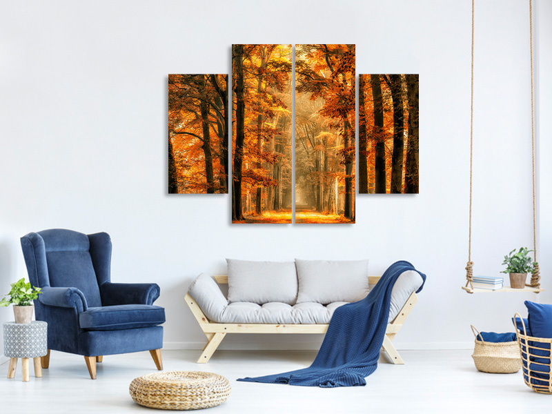 4 Piece Canvas Print Exit The Portal