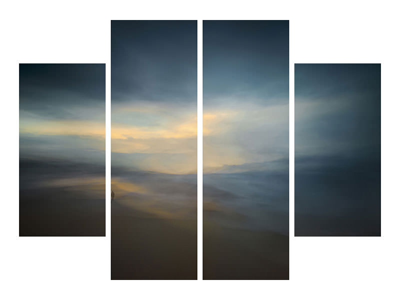 4 Piece Canvas Print Walk Along The Edge Of Nowhere