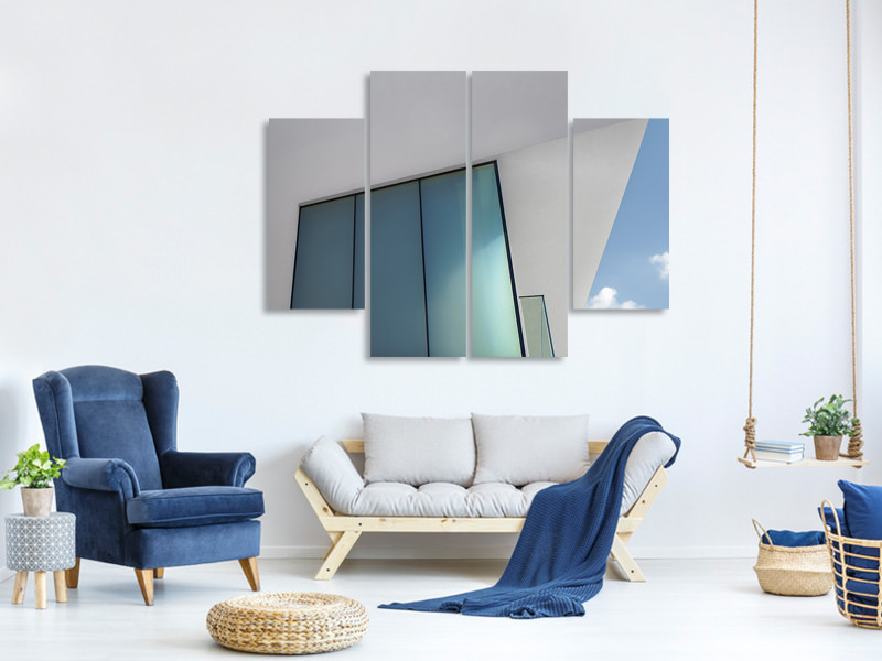 4 Piece Canvas Print Loft With A View