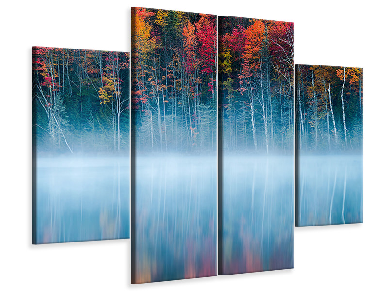 4 Piece Canvas Print Morning Reflection