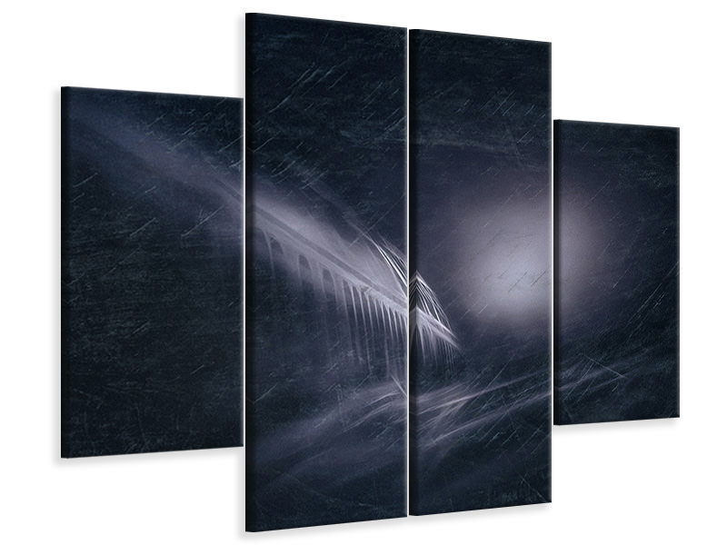 4 Piece Canvas Print Night Flight
