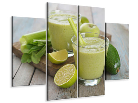 Canvastavla 4-delad Smoothie
