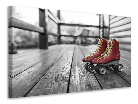 Canvas print Retro roller skates