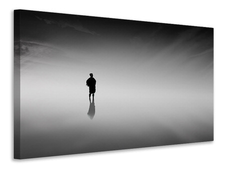Canvas print Reflection in the fog