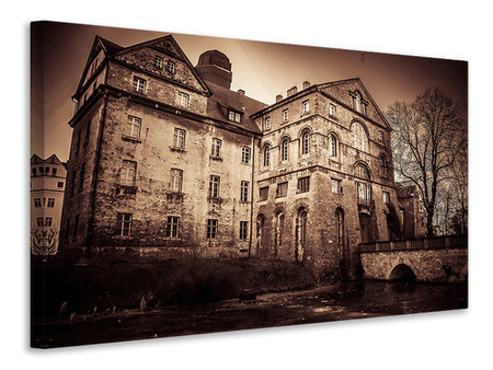 Canvas print Mysterious house