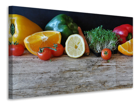 Canvas print fruit and vegetables