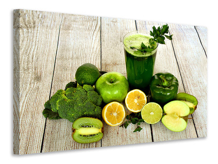 Canvas print Ingredients green smoothie