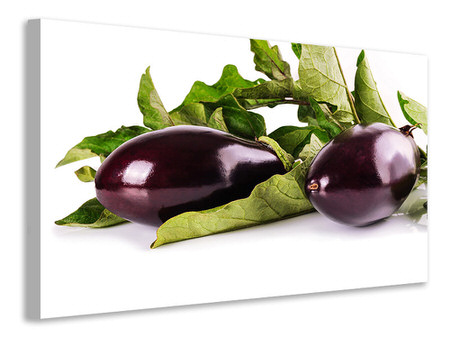 Canvastavla Fresh eggplants