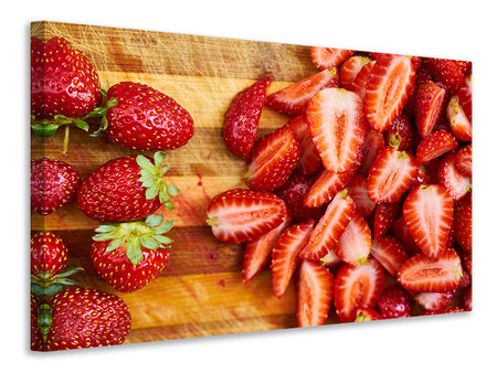 Canvastavla Fresh strawberries