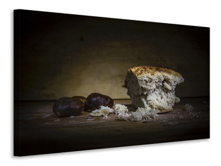 Canvas print Bread with chestnuts