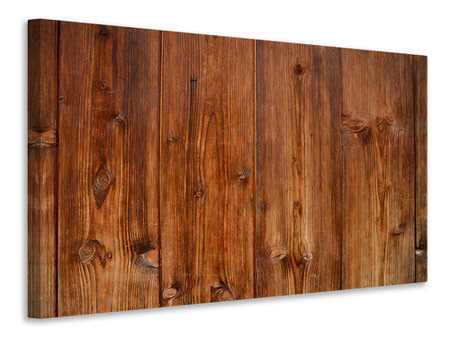 Canvastavla Wooden wall texture