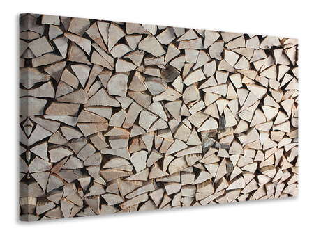 Canvastavla woodpile