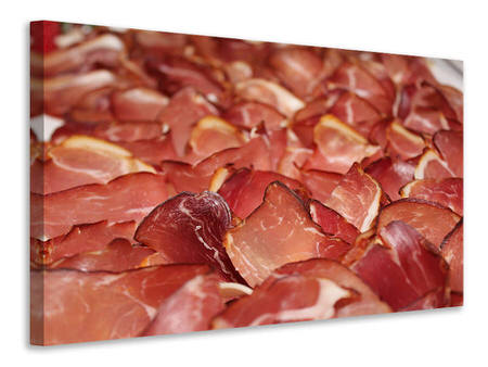 Canvas print Raw ham