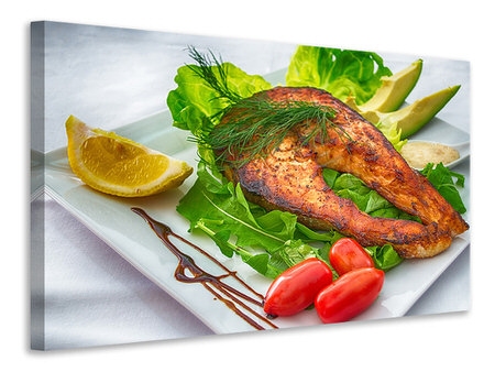 Canvas print Salmon plate