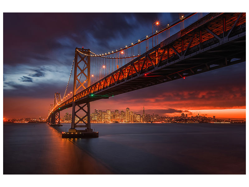 Canvas print Fire Over San Francisco