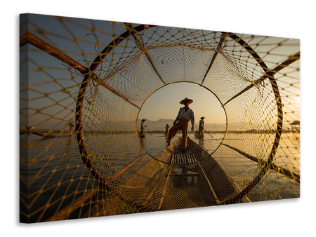 Canvas print Inle Fisherman