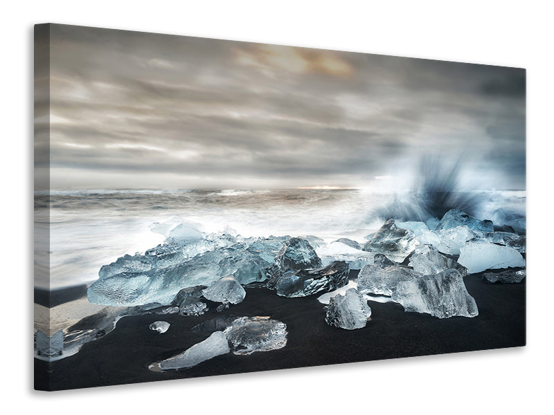 Canvas print Water And Ice