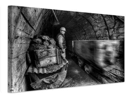 Canvas print coal mine
