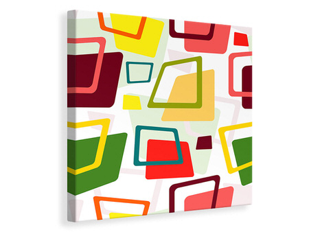 Canvas print Rectangles In Retro Style