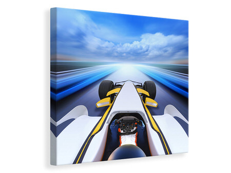 Canvas print In Racecar