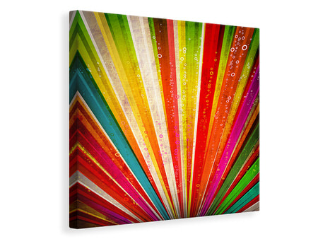 Canvas print Abstract Colored Light Rays