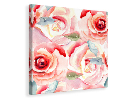 Canvas print Painting Rose