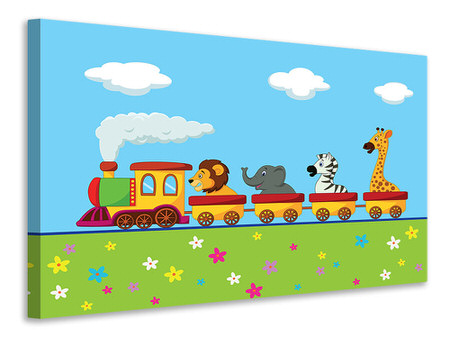 Canvas print Animal Train