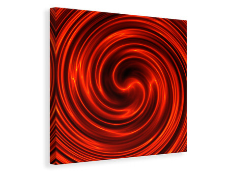 Canvastavla Abstract Red Whirl