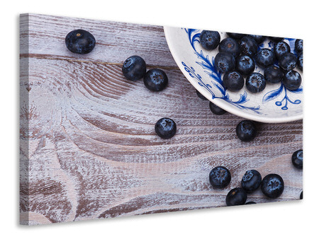 Canvastavla Blueberries