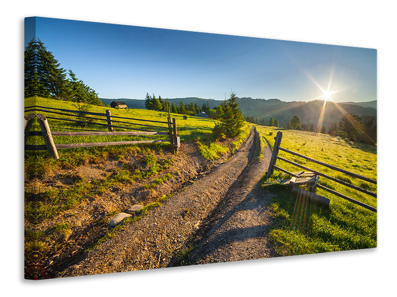 Canvas print Sunrise At Mountain
