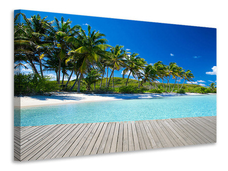 Canvas print Beach Palms