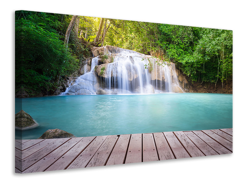 Canvas print Terrace At The Waterfall
