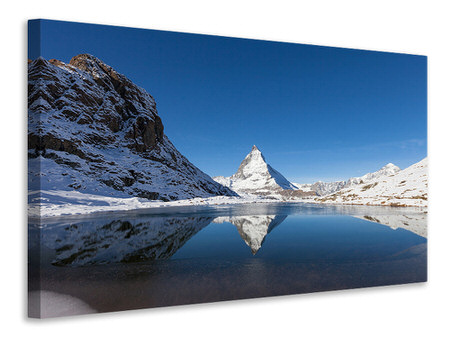Canvastavla The Riffelsee On Matterhorn