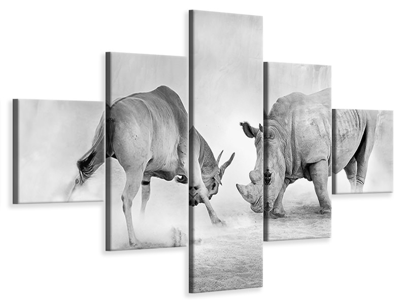 5 Piece Canvas Print Combat