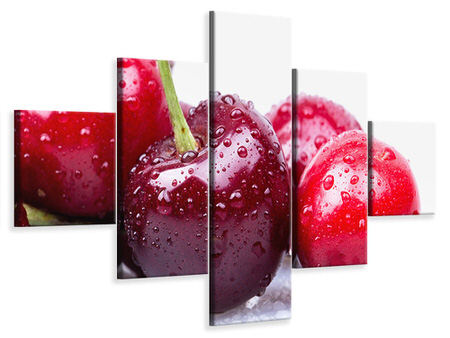 5 Piece Canvas Print Cherries