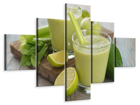 Canvastavla 5-delad Smoothie